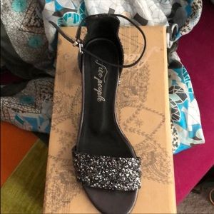 Brand New With Box Free People Glitter Heels